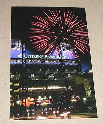 Rare First Issue 2004 Citizens Bank Park Fireworks Phillies Postcard