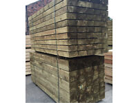 "🌲8""X 4""X 2.4M Tanalised Wooden Sleepers *New*"