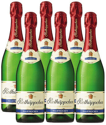 Rotkäppchen Halbtrocken Sekt 11%. 6 x 0,75 L Flaschen