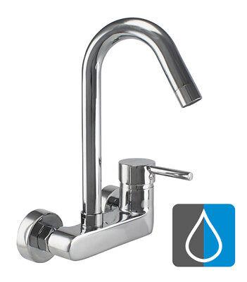 ATCO® Wandarmatur Küche Spültischarmatur Küchenarmatur Wasserhahn Spüle SWAN - Swan Küche
