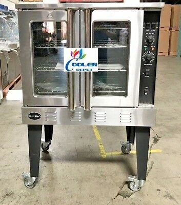 New 38 X 57 Commercial Gas Convection Oven 54000 Btu Restaurant Kitchen Nsf