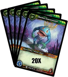 WORLD-OF-WARCRAFT-WOW-TCG-MURLOC-COASTRUNNER-COMMON-X-20