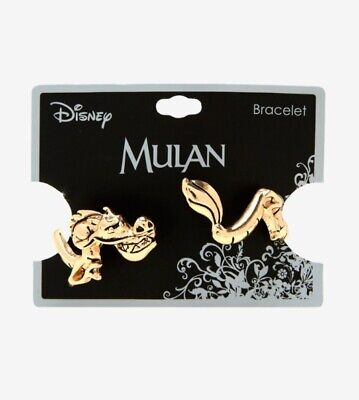 Disney Mulan Gold Mushu Cuff Bracelet Hot Topic NEW Dragon