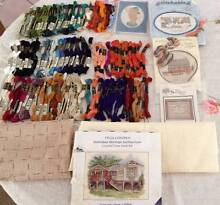 EMBROIDERY STRANDED THREAD ASSORTMENT +  AIDA = KIT & Free Kits Edens Landing Logan Area Preview