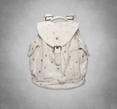 NWT Abercrombie Shine Backpack White bag purse book tote