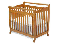REDUCED, mini cot + mattress