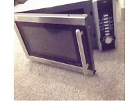 Microwave for sale black and grey