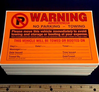 250 PACK ((BEST DEAL!!)) ILLEGAL NO PARKING VIOLATION CAR TOWING WINDOW STICKERS