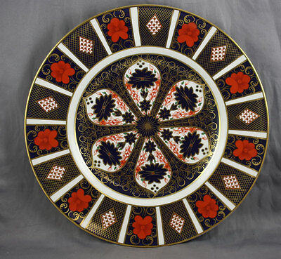 """Royal Crown Derby Old Imari 10 5/8"""" Dinner Plate 1 3/4"""" Border Sold Individually"""