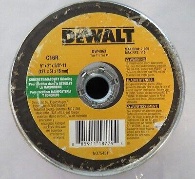 Dewalt Dw4963 5 X 2 X 58 - 11 Concrete Masonry Grinding Cup Wheel Usa