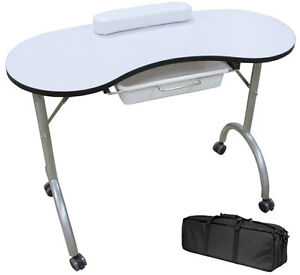 Portable folding manicure table station nail art tattoo for Mobile manicure table