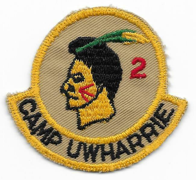 1940s Camp Uwharrie 2nd Year Right Twill Var. North Carolina Council Boy Scouts