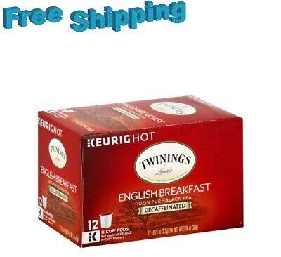 Twinings English Breakfast Decaf Black Tea Keurig k-cups  (Black Tea Sweet Coffee)