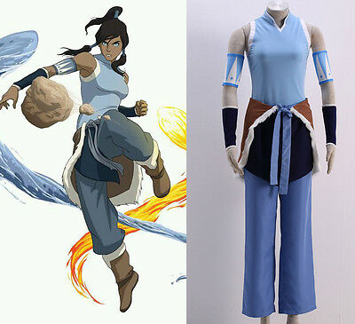 Avatar Korra The Legend of Korra Cosplay costume Kostüm cartoon neu set