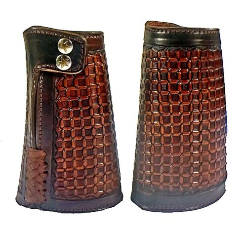 COWBOY CUFF CUSTOM HANDMADE WESTERN  3 COLORS STAINLESS STEAL FASTiNERS
