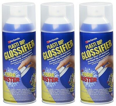 Performix Plasti Dip Gloss Glossifier 3 Pack Spray 11oz Aerosol Cans Wheel Kit