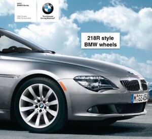 BMW factory alloy wheels style 218R with sensors OEM