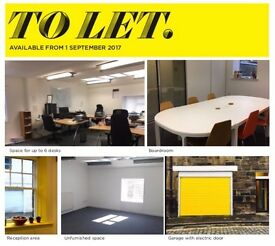 Fantastic city centre serviced mews office for up to 6 desks with parking