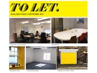 City centre mews office up to 6 desks, private kitchenette and F&M toilets & meeting space
