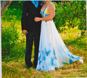 3 Gorgeous Prom and 1 Lovely Blue Bridesmaid dress