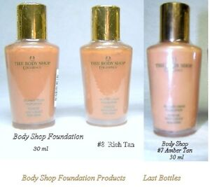 Body Shop Foundation, new, factory sealed, 30 ml, $3 each
