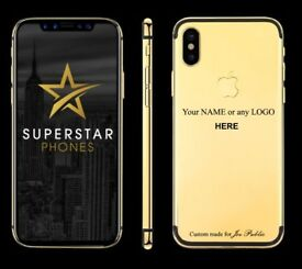 iPhone 6 7 8 X - LOOK - Limited Offer - Gold Plate your iPhone with customise with name or logo