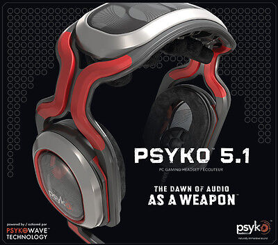 Psyko True 5.1 Surround Sound PC Gaming Headset #EB817