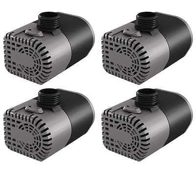 (4) HYDROFARM Active Aqua 160 GPH Submersible Hydroponics Aquarium Water Pumps