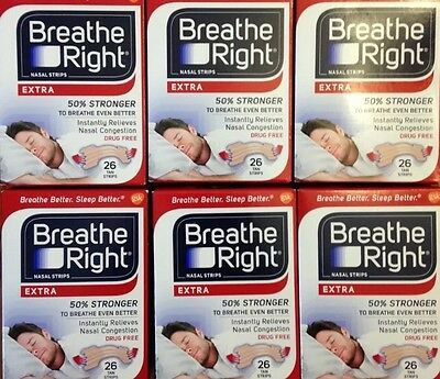 156 Breathe Right Nasal Strips Extra Size Nose Band Stop Snoring Sleep Breath