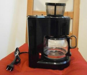 Small 4 cup coffee maker with reusable basket