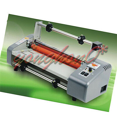 New Roll Laminator Four Rollers Hot Cold Laminating Machine 220v A3 Paper 330mm