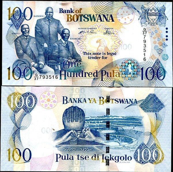BOTSWANA 100 PULA 2005 P 29 UNC
