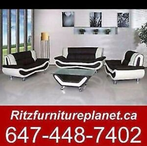 3 pc sofa set with free coffee table