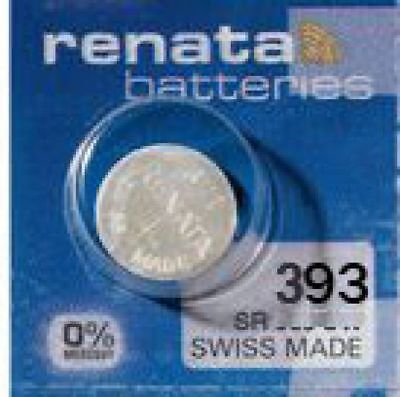 2 x Renata 393 Knopfzelle Uhrenbatterie SR48 SR754 V 393 1,55V SR754W 80mAh
