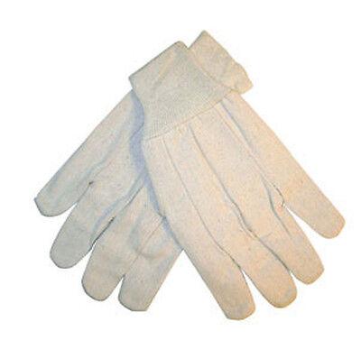 8oz White Cotton Gloves -- 12 Pairs
