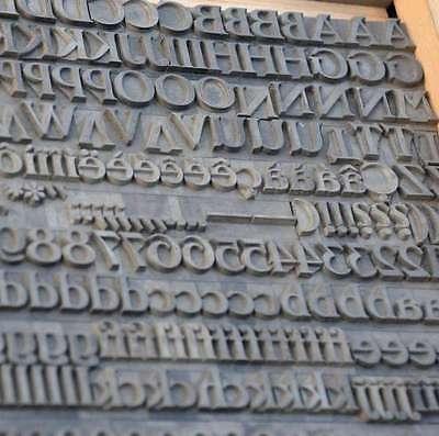 Bleischrift 14mm Bleisatz Buchdruck Handsatz Alphabet Schrift ABC Letter Lettern