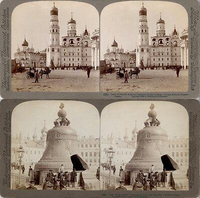 18 Stereofotos Russland Russia Moscow um 1900 Serie 4