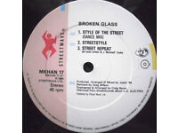 Broken Glass ‎– Style Of The Street - MKHAN 17 - Vinyl 12'' 1984 Hip Hop Electro