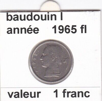 BF 3 )pieces de 1 francs  baudoui 1   1965  belgie  voir descrition
