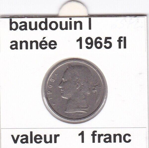 BF 3 )pieces de 1 francs  baudoui 1   1965  belgie  voir descrition