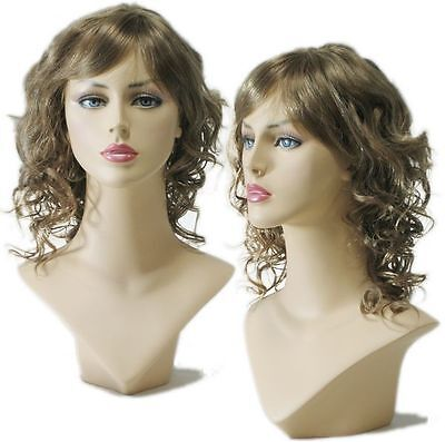 WG-031 Curly Ash Brown Wig (Halloween/Party/Costume/Cosplay) Wig Only - Ash Female Cosplay