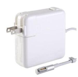 For Apple - 18.5V - 4.6A - 85W - Magsafe1 L-Shape Replacement Laptop AC Power Adapter - White