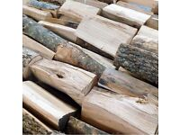 Firewood logs for sale well seasoned hardwood dry ready to burn fire wood best value around!!