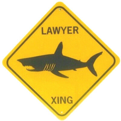 LAWYER XING Aluminum Political , Legal, Attorney Sign  Won't rust or fade
