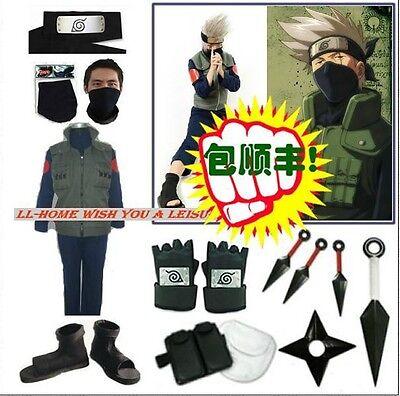 Cosplay OVP kostüm Kakashi Sets kaufbar Buch Waffe Schuhe