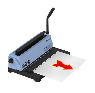 Usa 34 Holes Metal Wire Punching Binding Machine 120 Sheet Paper Binder Puncher