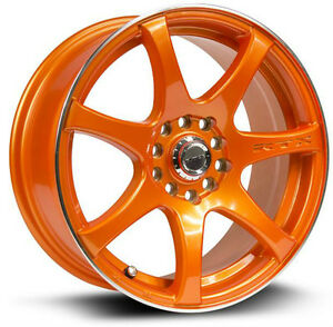 Roues (Mags) RTX Ink Tiger - Orange machiné