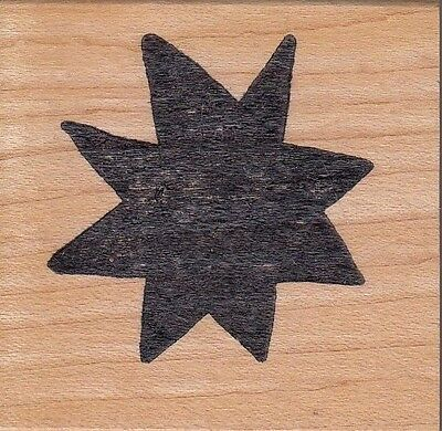 """solid star hot potatoes Wood Mounted Rubber Stamp 2 x 2""""  Free Shipping"""