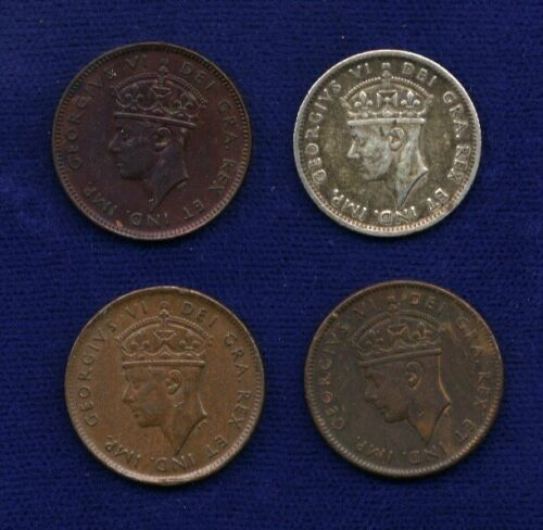 CANADA NEWFOUNDLAND 1941 CENT COINS, LOT OF (3), PLUS 1941 10 CENTS SILVER COIN