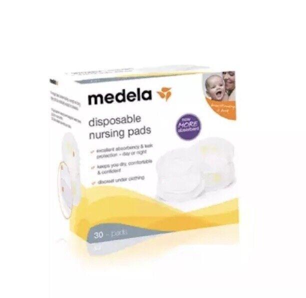 Medela - Disposable Nursing Pads, 30 Pads/Box - #89973. Best Absorbent!